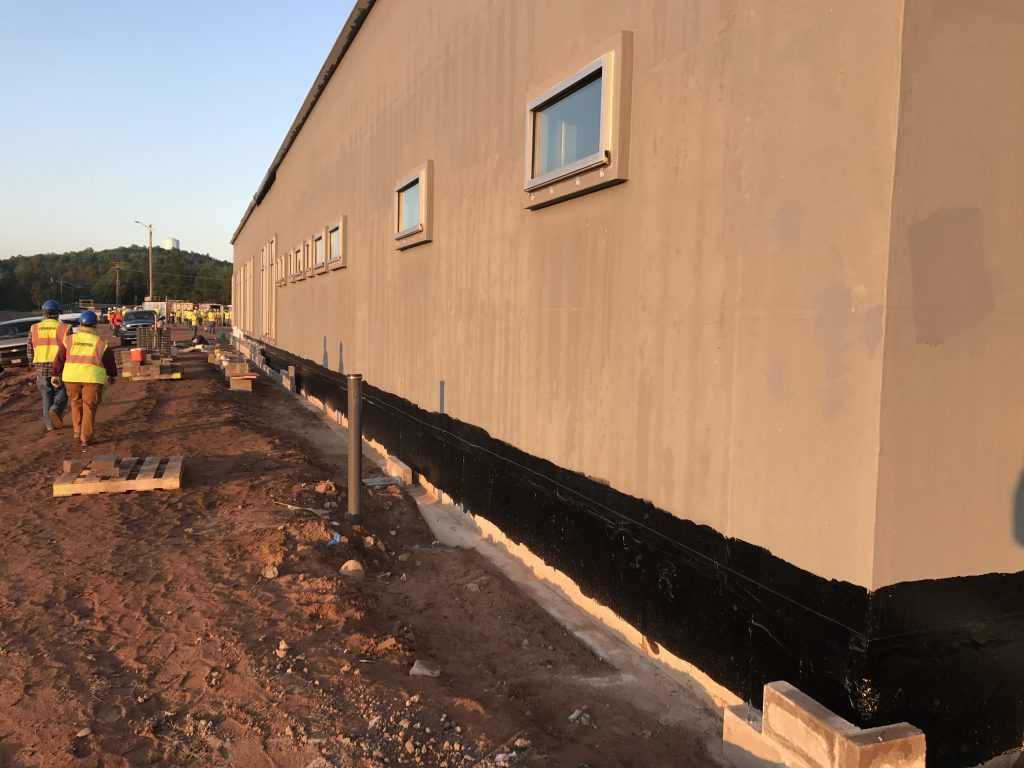 Exterior Wall Fluid-Applied Air Vapor Barrier