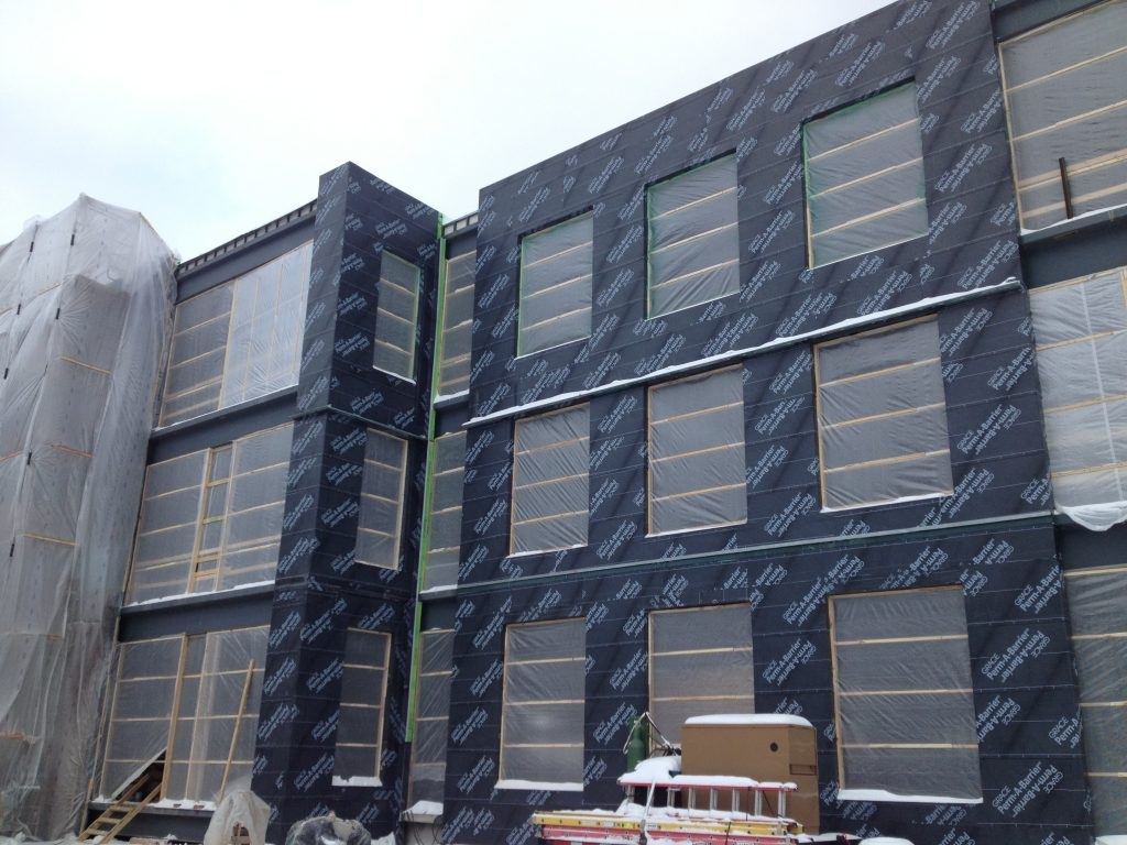 Exterior Wall Self-Adhered Membrane Air Vapor Barrier