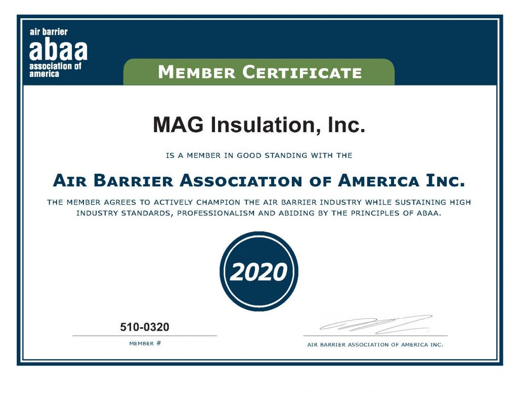 6.	MAG ABAA Accredited Contractor Certificate